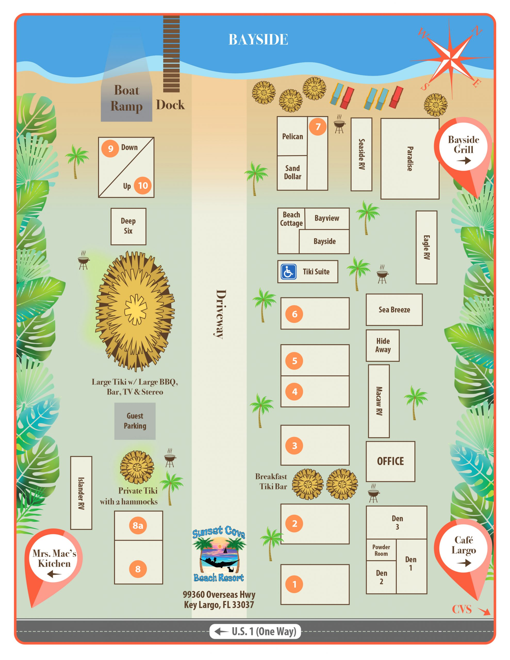 sunset cove property map